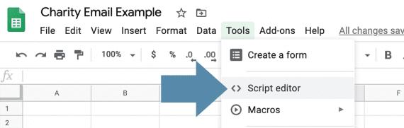Associer des feuilles de calcul Google à des scripts personnalisés via le