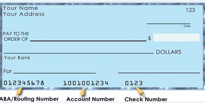 Bank Routing Number