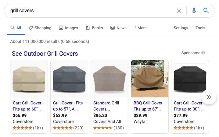 Les listes d'achats payants s'afficheront désormais sur la recherche principale de Google