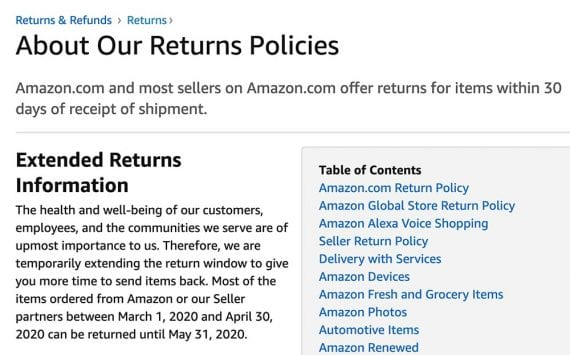 La politique de retour actualisée des États d'Amazonie, en partie,