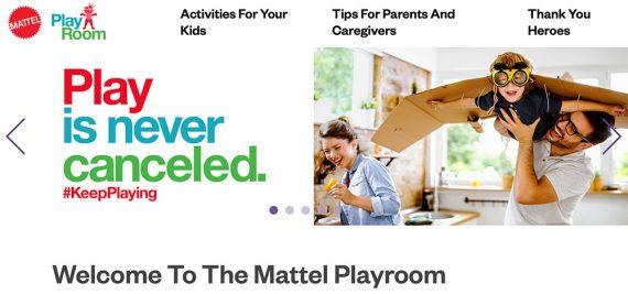 L'espace créatif de Mattel pour s'amuser en famille gratuitement. Le slogan dit :
