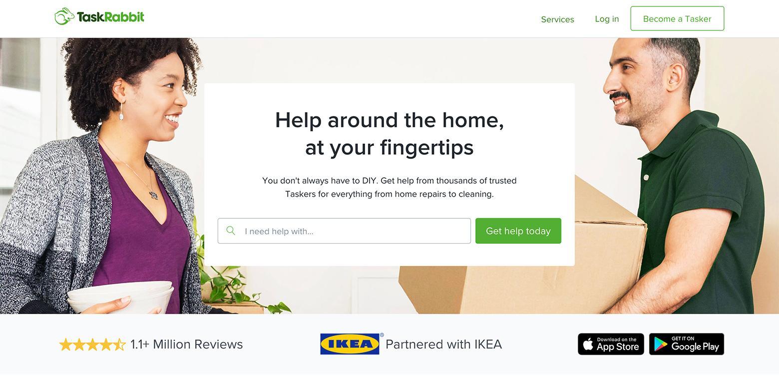 TaskRabbit a l'un des meilleurs taux de conversion des pages d'accueil