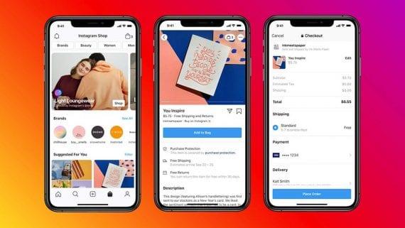 Facebook et Instagram Shops offriront aux petites entreprises un nouveau canal de commerce électronique. <em>Source : Facebook.</em>» width=»570″ height=»321″ srcset=»https://repha.fr/wp-content/uploads/2020/05/Les-boutiques-Facebook-changent-la-donne-en-matiere-de-commerce.jpg 570w, https://www.practicalecommerce.com/wp-content/uploads/2020/05/052120-instagram-shop-300×169.jpg 300w, https://www.practicalecommerce.com/wp-content/uploads/2020/05/052120-instagram-shop-768×433.jpg 768w, https://www.practicalecommerce.com/wp-content/uploads/2020/05/052120-instagram-shop-150×85.jpg 150w, https://www.practicalecommerce.com/wp-content/uploads/2020/05/052120-instagram-shop-500×282.jpg 500w, https://www.practicalecommerce.com/wp-content/uploads/2020/05/052120-instagram-shop.jpg 1001w» sizes=»(max-width : 570px) 100vw, 570px»/></p> <p id=
