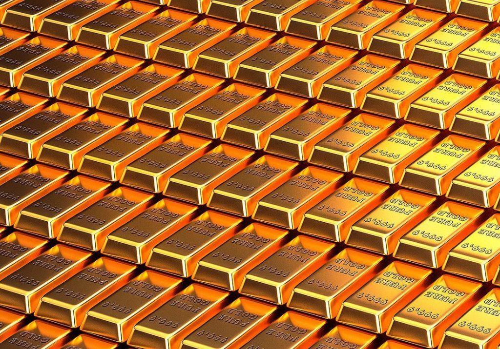 Les lingots d'or