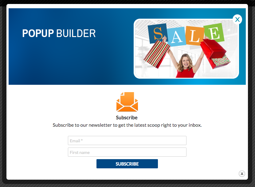 Le plugin Pop up builder