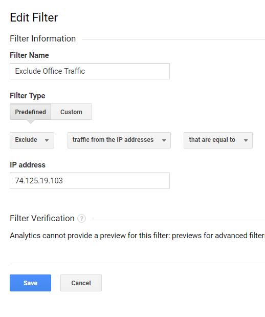 Utiliser des noms descriptifs pour le filtre IP - tels que