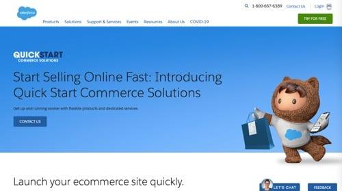 Solutions commerciales de démarrage rapide de Salesforce
