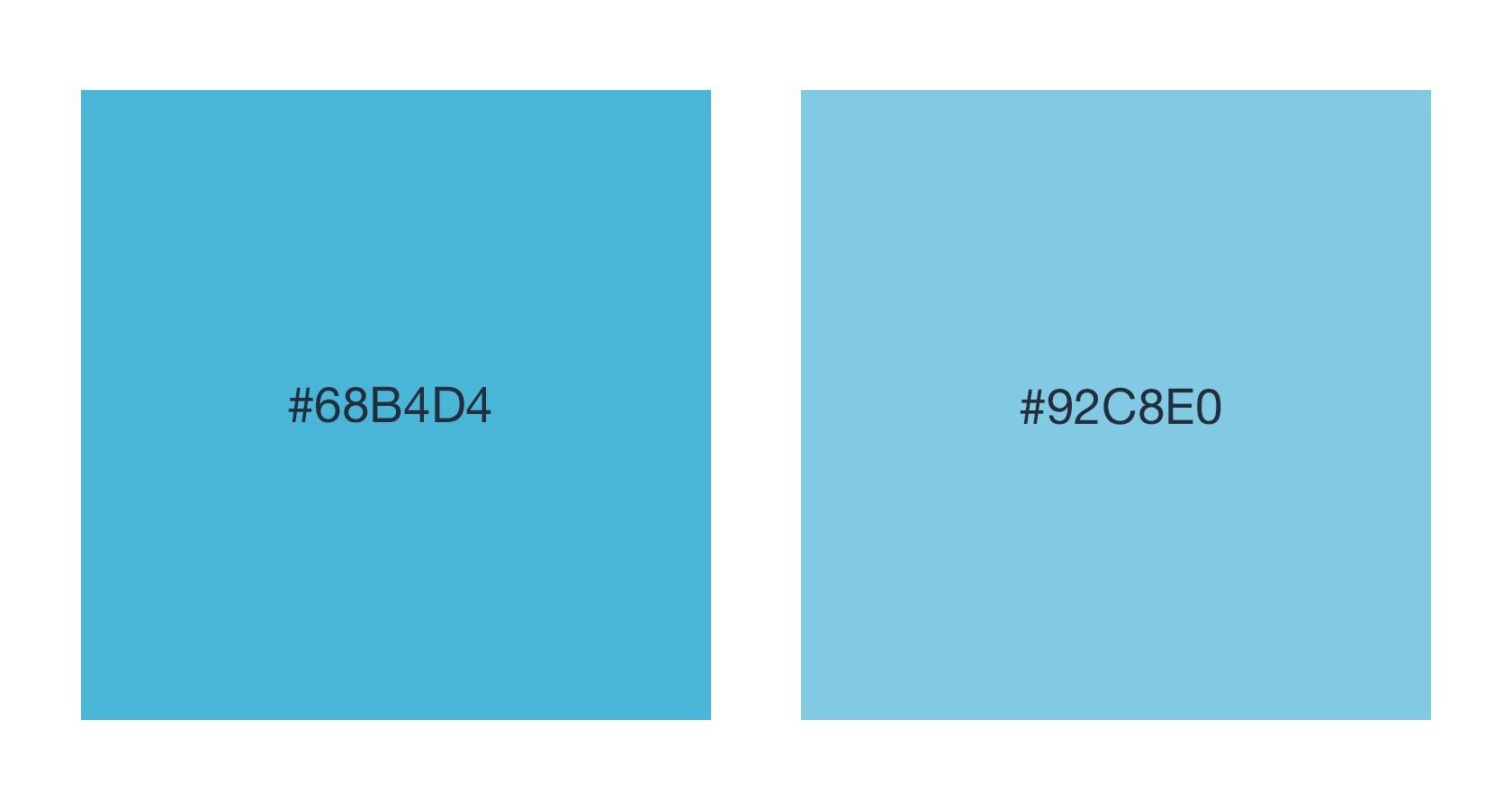 Conception de l'UX pour les développeurs - valeurs des couleurs hexagonales