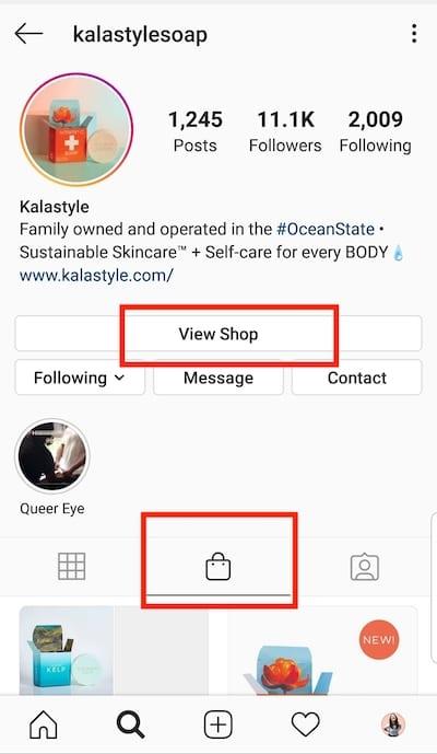 Créez au moins un article de boutique pour activer l'onglet «Boutique» de votre profil d'entreprise.