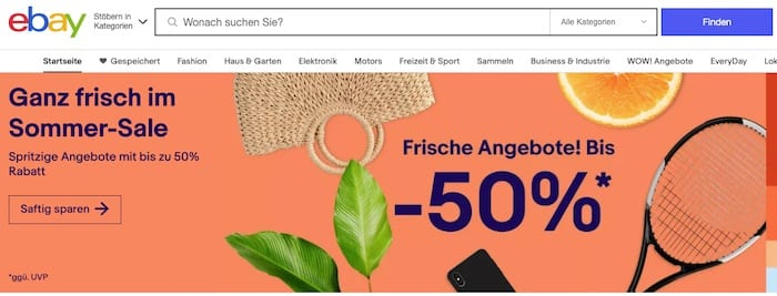eBay.de détient 25% du total des visites sur le marché en Allemagne et 22% des ventes sur le marché.