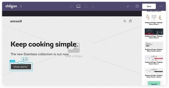Page Builder de Shogun est un outil essentiel de glisser-déposer pour de nombreux sites de commerce électronique utilisant Shopify ou Magento.
