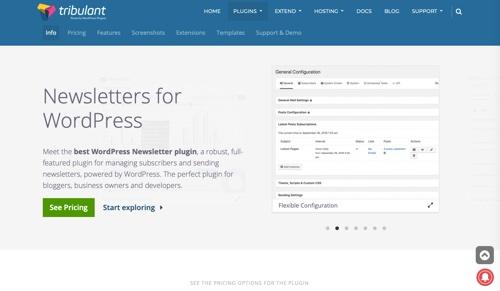Logiciel Tribulant: Newsletters pour WordPress