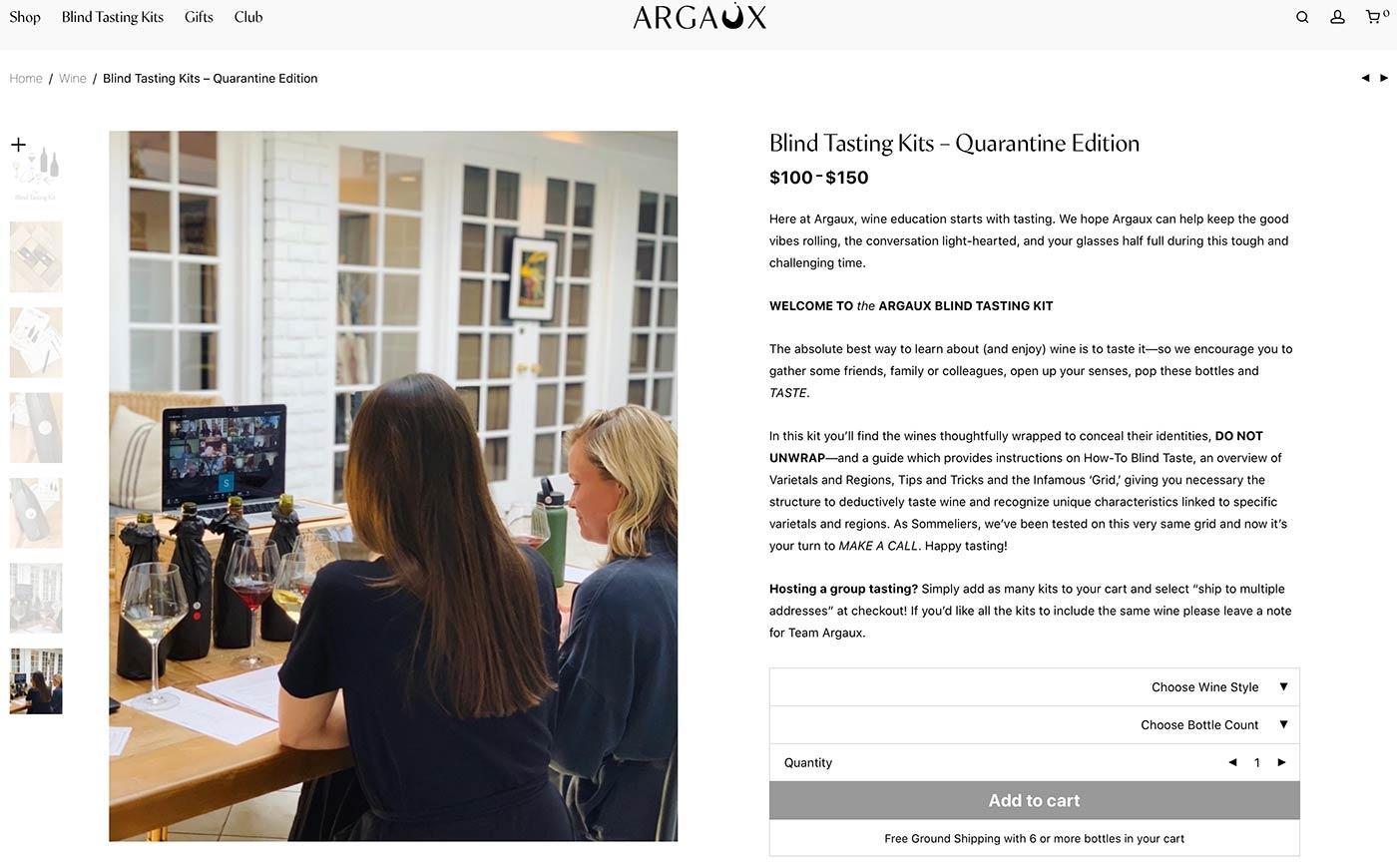 Page Web montrant comment les gens peuvent organiser des tests de goût virtuels.