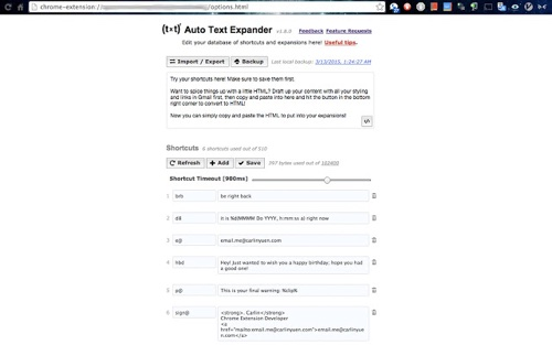 Expanseur de texte automatique