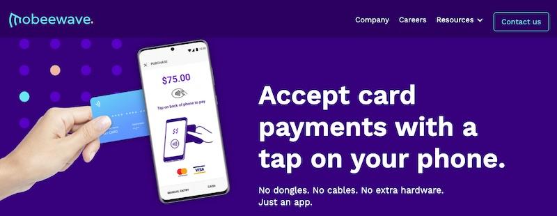 Mobeewave permet aux smartphones d'être des appareils acceptant les paiements sans composants matériels supplémentaires.