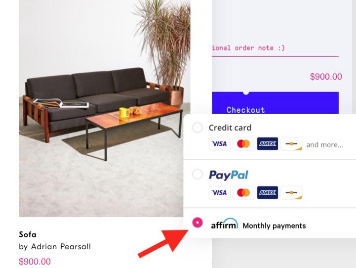 Les marchands de commerce électronique affichent généralement un bouton de paiement BNPL à côté des logos habituels de carte de crédit et PayPal